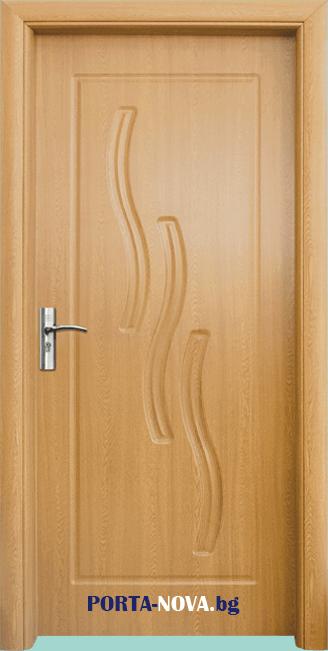 Интериорна HDF врата с код 014-P, цвят Орех във Варна