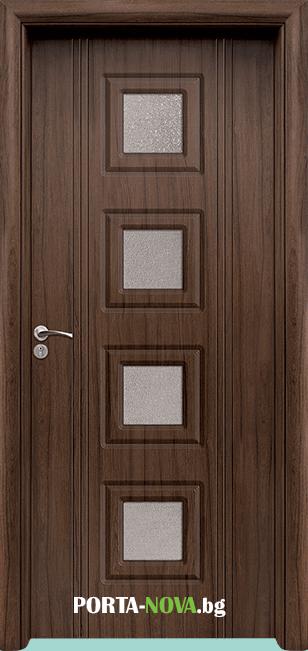 Интериорна HDF врата с код 021, цвят Светъл дъб във Варна