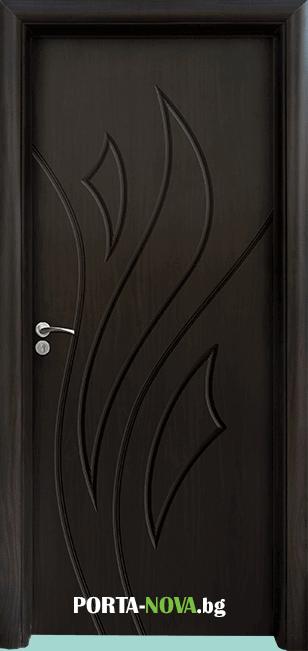 Интериорна HDF врата с код 033-P, цвят Бял във Варна
