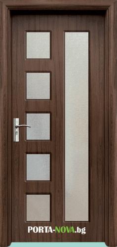 Интериорна HDF врата с код 048, цвят Бял във Варна