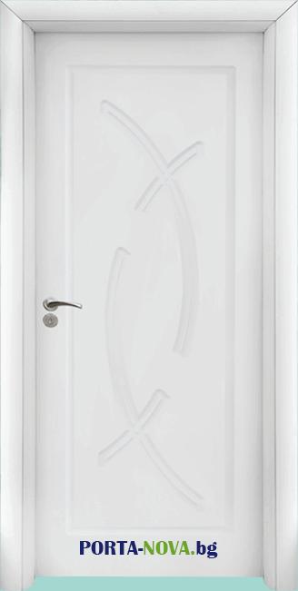 Интериорна HDF врата модел 056-P във Варна