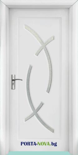 Интериорна HDF врата с код 056, цвят Светъл дъб във Варна