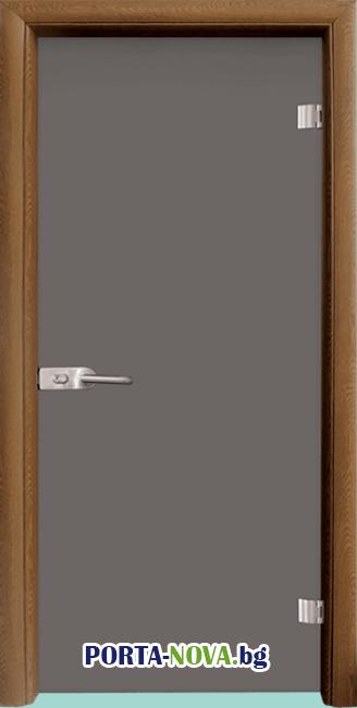 Стъклена интериорна врата, Basic G 10-1, каса Светъл дъб във Варна