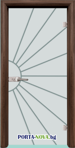 Стъклена интериорна врата, Gravur G 13-1 във Варна