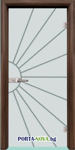 Стъклена интериорна врата, Gravur G 13-2 във Варна