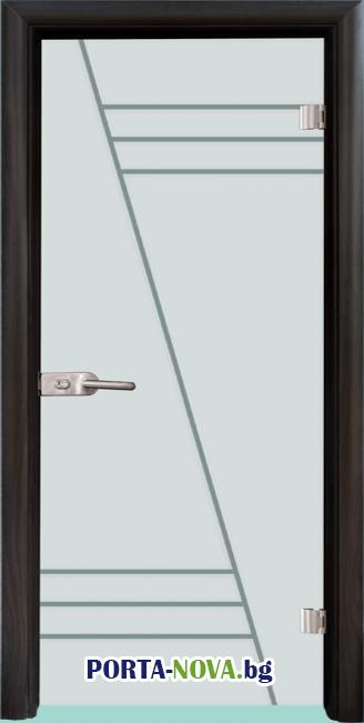 Стъклена интериорна врата, Gravur G 13-4 във Варна