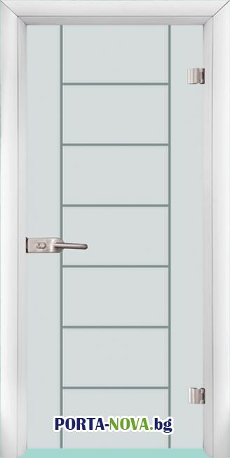 Стъклена интериорна врата, Gravur G 13-6 във Варна