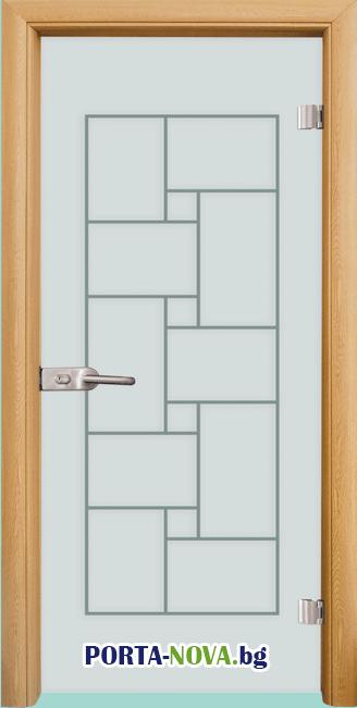 Стъклена интериорна врата, Gravur G 13-7 във Варна