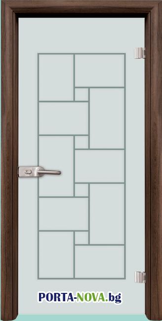 Стъклена интериорна врата, Gravur G 13-8 във Варна