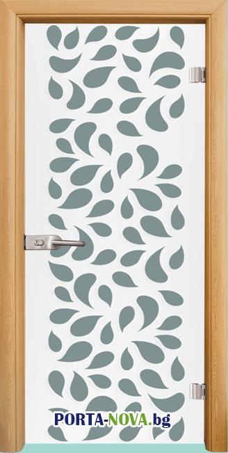 Стъклена интериорна врата, Print G 13-1, каса Светъл дъб във Варна