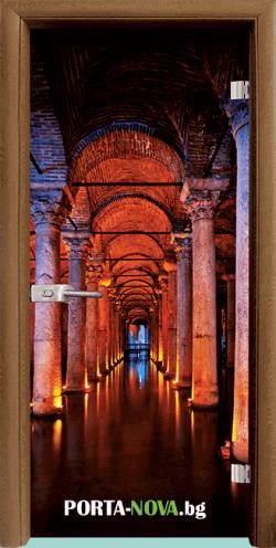 Стъклена интериорна врата, Print G 13-13, каса Бяла във Варна