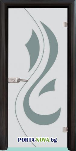 Стъклена интериорна врата, Sand G 14-10, каса Светъл дъб във Варна