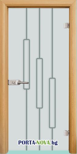 Стъклена интериорна врата, Sand G 14-11 във Варна