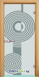 Стъклена интериорна врата, Sand G 14-6 във Варна