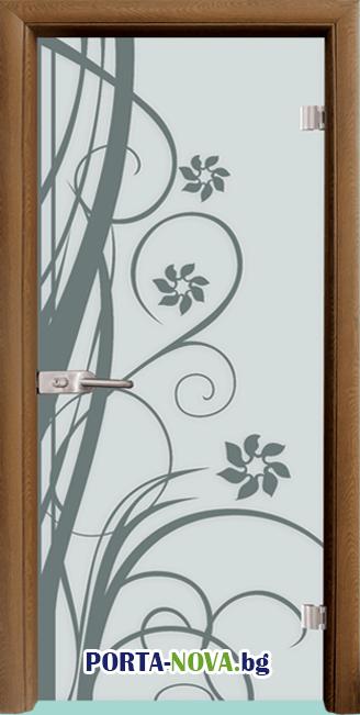 Стъклена интериорна врата, Sand G 14-7 във Варна