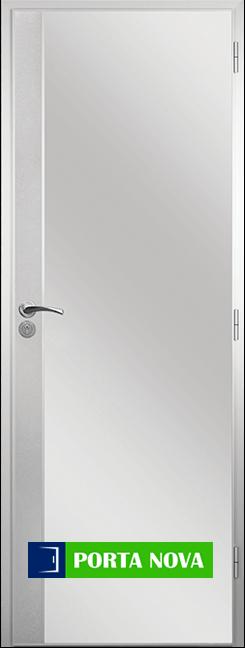 Алуминиева врата за баня - Стандарт цвят Бял във Варна