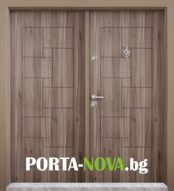 Двукрила входна врата Т-100, цвят Спарта във Варна