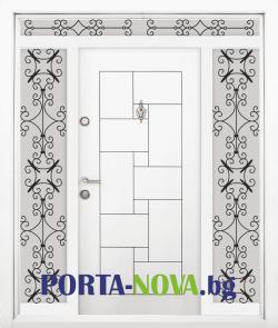 Еднокрила входна врата Т-100, цвят Бял във Варна