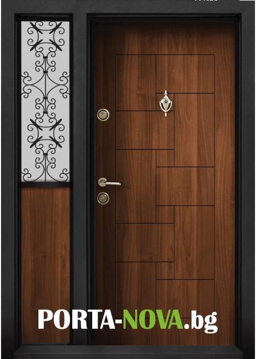 Еднокрила входна врата Т-100, цвят Златен дъб във Варна