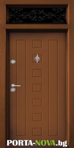 Еднокрила входна врата Т-712, цвят Златен дъб във Варна