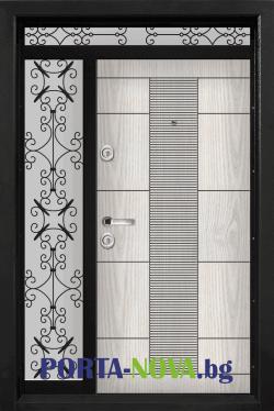 Еднокрила входна врата Т-901, цвят Арктика във Варна