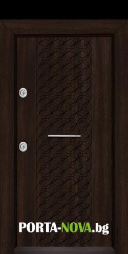 Блиндирана входна врата Т-1001, цвят Венге във Варна