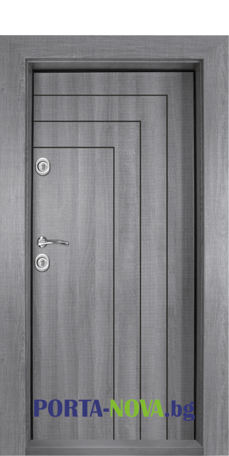 Блиндирана входна врата Т-1002, цвят Сив дъб във Варна