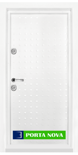 Блиндирана входна врата модел T-777, панел Бял гланц във Варна