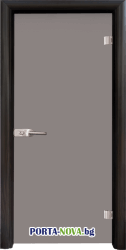 Стъклена интериорна врата, Matt G 11-1, каса Бяла във Варна